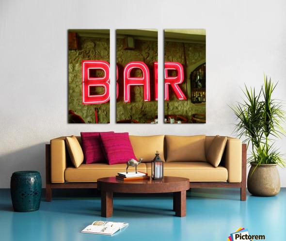 Bar Sign Split Canvas print
