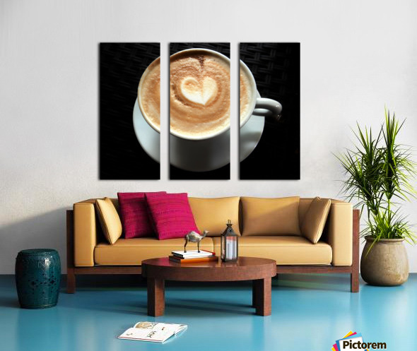 Uno Cappuccino Split Canvas print