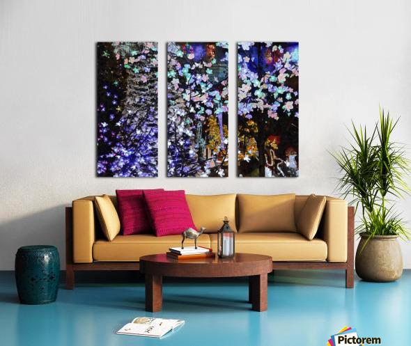 Look Ma Lights Split Canvas print