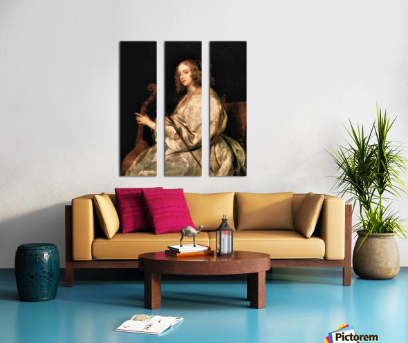 Portrait of Mary Ruthven, wife of the artist by Van Dyck Split Canvas print