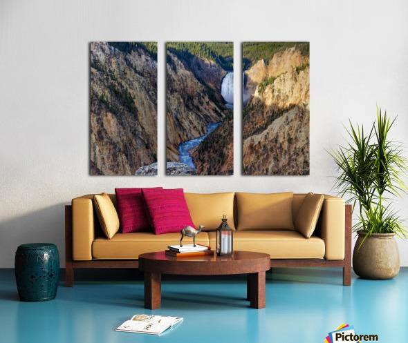 Yellowstone National Park Lower Falls Split Canvas print