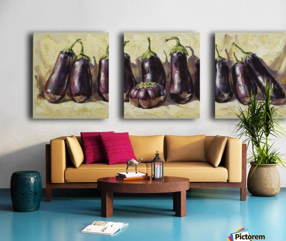 Eggplant Split Canvas print