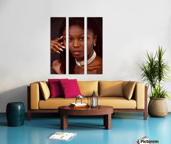Headshot Split Canvas print
