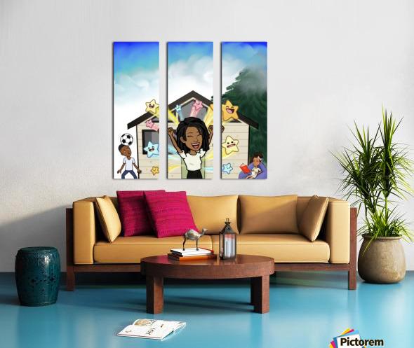 Kids room Split Canvas print