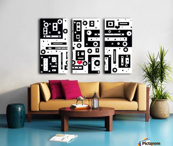 Blind Date Split Canvas print