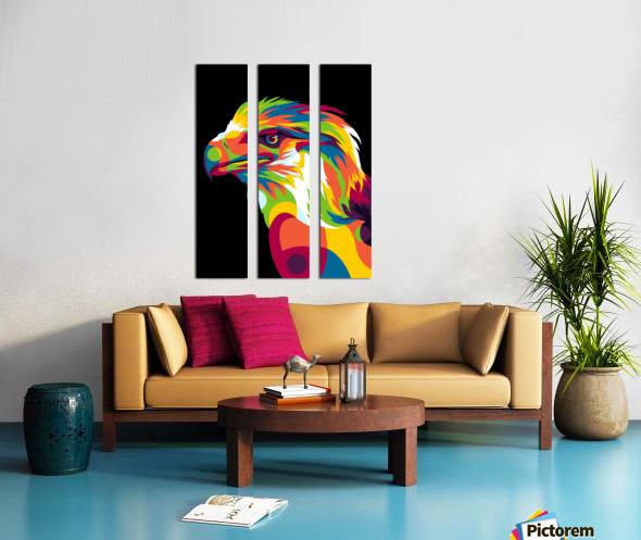 Philippine Eagle Illustration Split Canvas print