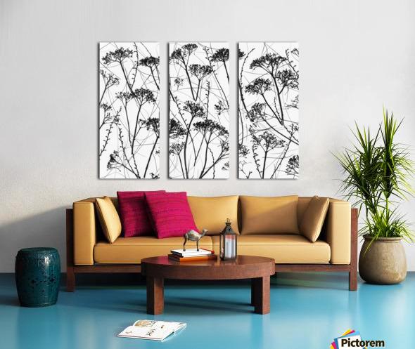 Silhouette of dried plants Split Canvas print
