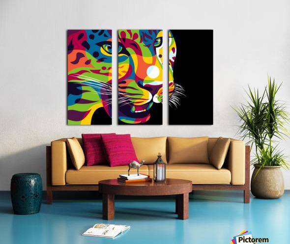 The Jaguar Gaze Split Canvas print