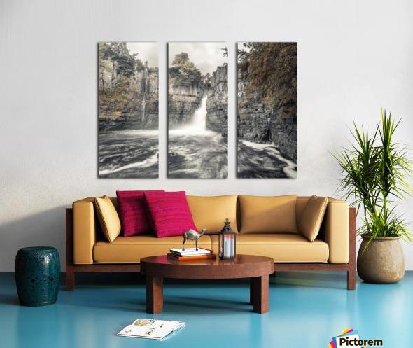 High Force waterfall, North Pennines, Yorkshire, UK Split Canvas print