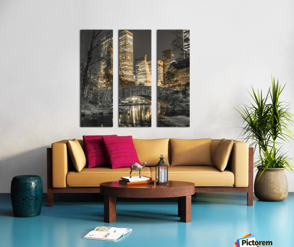 Evening view of Central Park in New York City Split Canvas print