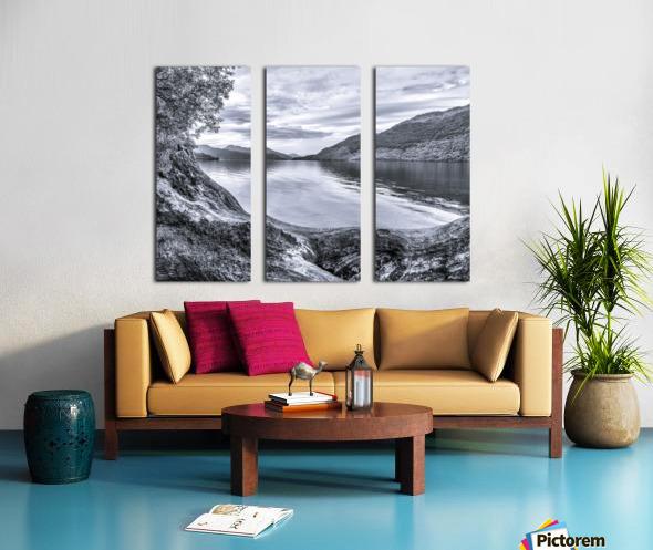 Scottish Loch Split Canvas print
