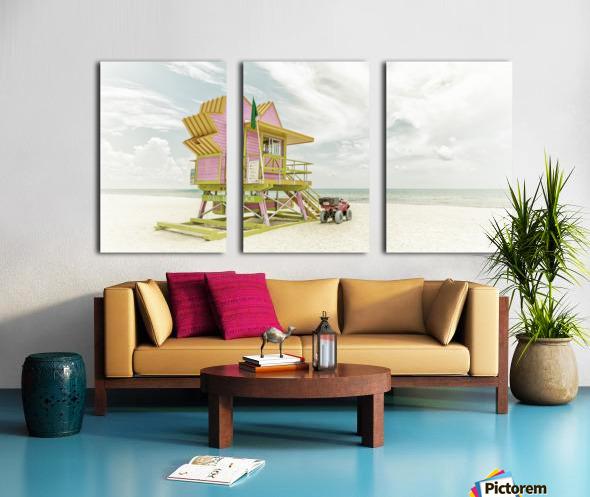 MIAMI BEACH Florida Flair | Vintage Panorama Split Canvas print