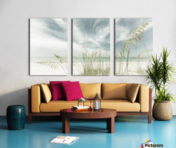 Heavenly calmness on the beach | Panoramic Vintage Split Canvas print