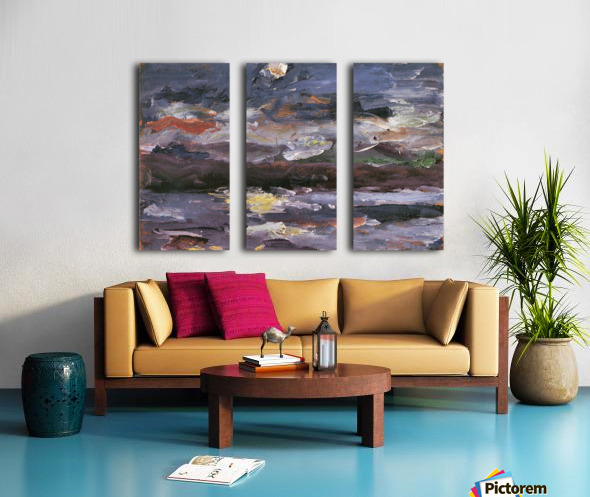 Moonlight by Lovis Corinth Split Canvas print