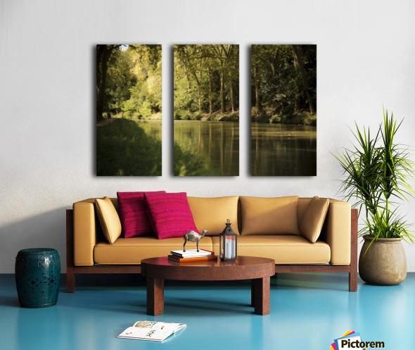 Canal  Carcassone Split Canvas print