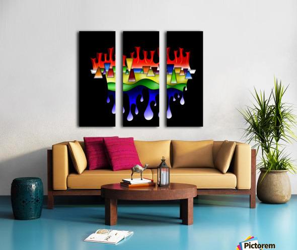 Grafenonci V4 Split Canvas print