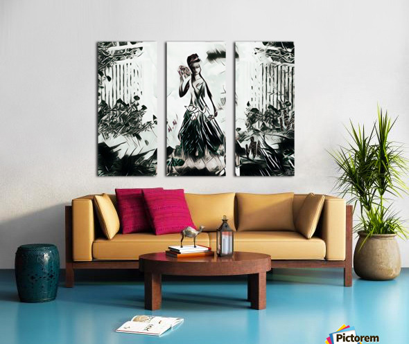 Natures Monarch of the Wild Split Canvas print