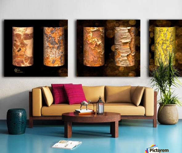 tree bark symphony Split Canvas print