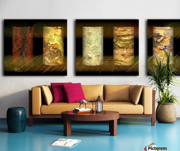 tree bark jungle Split Canvas print