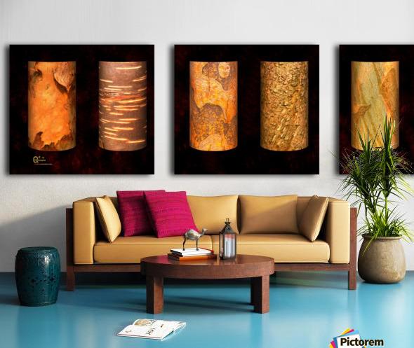 tree bark red Split Canvas print