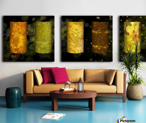 tree bark green zone Split Canvas print