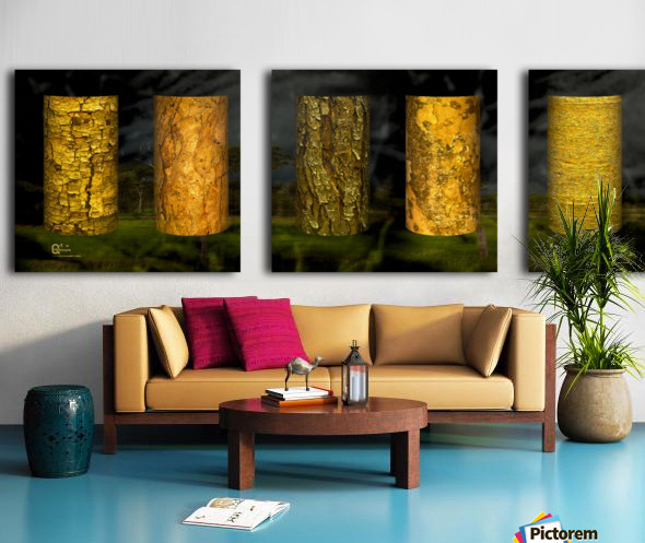 tree bark sentinels Split Canvas print