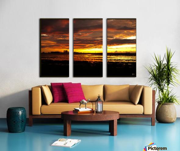 granite belt sunset Split Canvas print