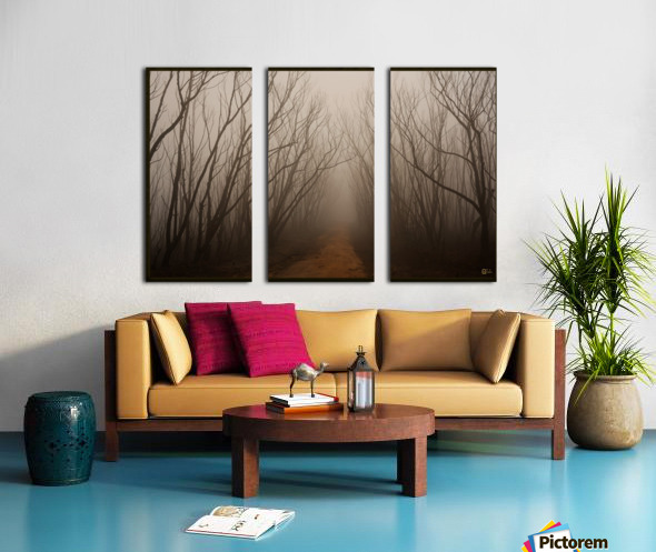 after the fire Split Canvas print