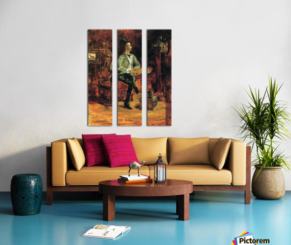 Princeteau in his studio by Toulouse-Lautrec Split Canvas print