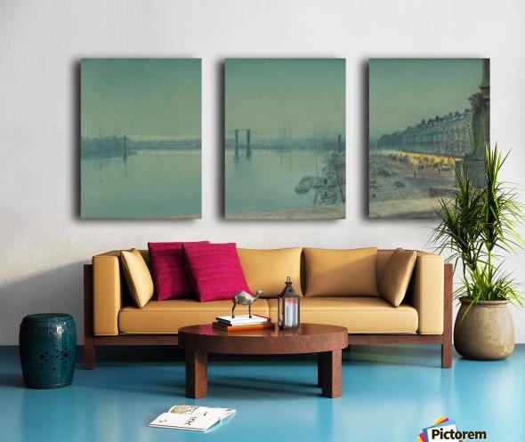 Quai de Paris Rouen Split Canvas print