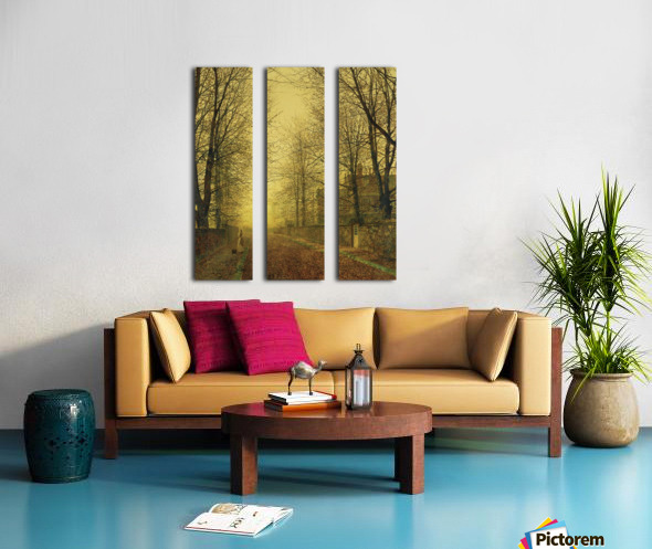 Lady within autumn glow Split Canvas print
