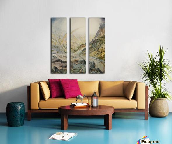 A mountain road, flood time Split Canvas print