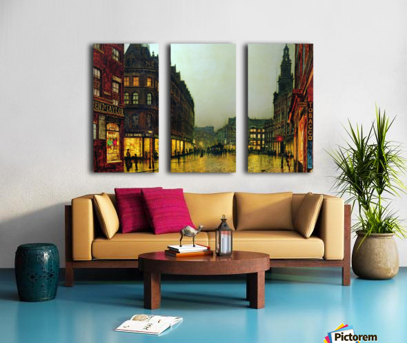 Boar Lane, Leeds Split Canvas print