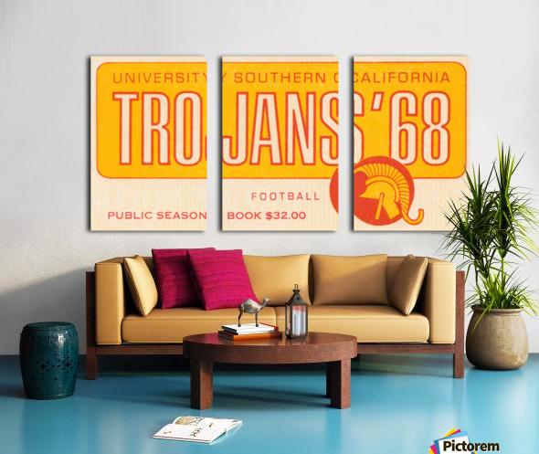 1968 USC Trojans Season Ticket Split Canvas print