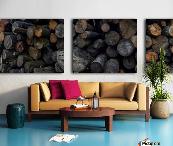 Log Pile Split Canvas print