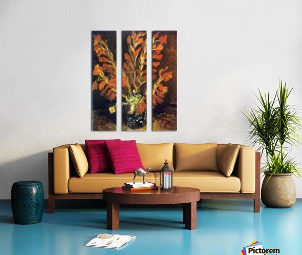 Red Gladioli by Van Gogh Split Canvas print