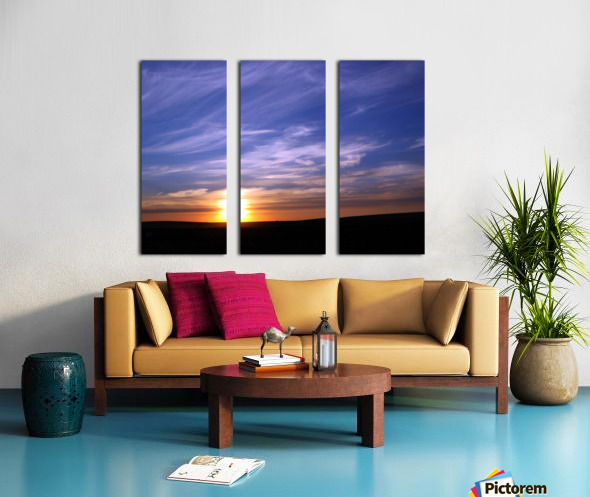 Montana   Sunset Split Canvas print