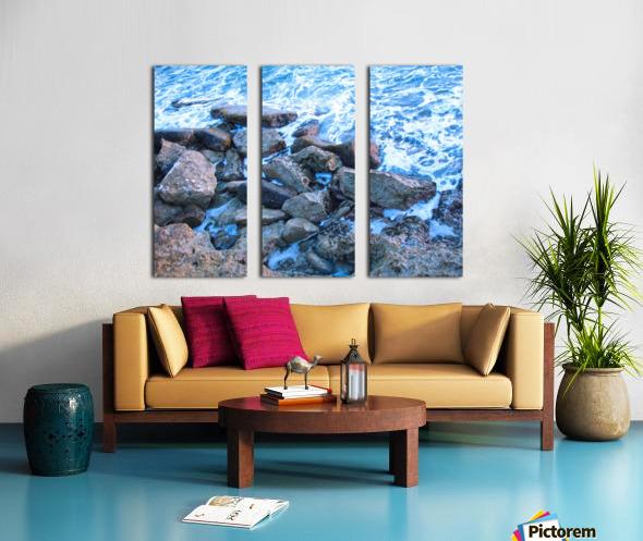 Rugged Coast Split Canvas print