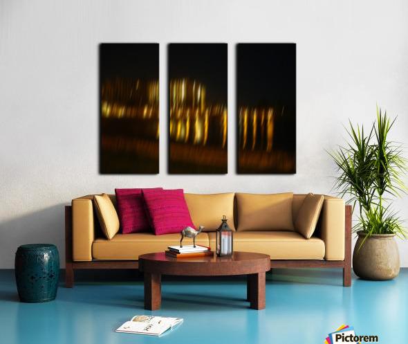 Lights Split Canvas print
