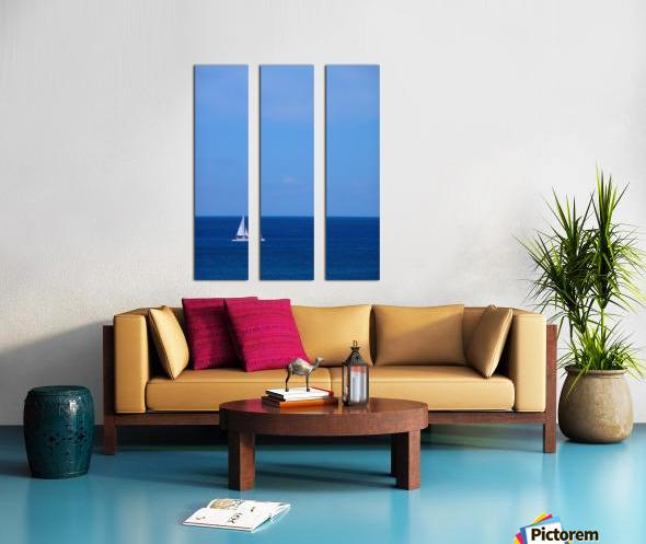 Blue Day - Gallery Artwork of the Year 2017 - Minimalism Split Canvas print