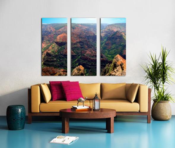 Rugged Kauai Split Canvas print