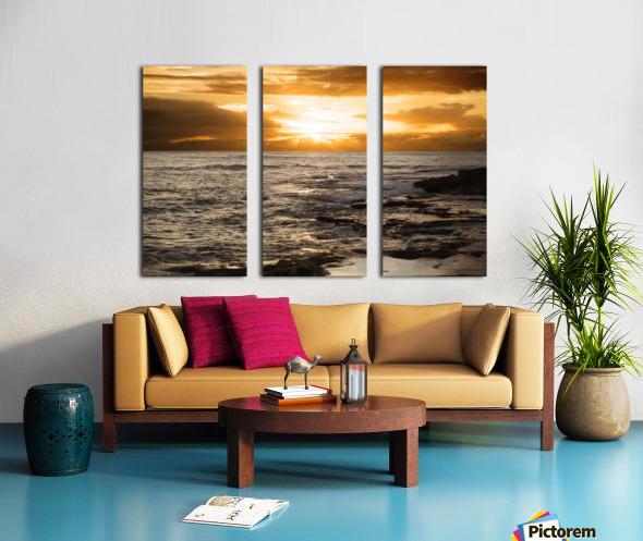 Dusk Split Canvas print