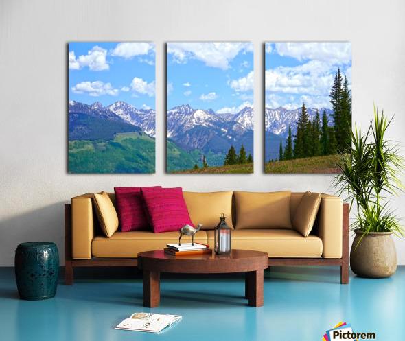 Rocky Mountain High Colorado Panorama  Split Canvas print