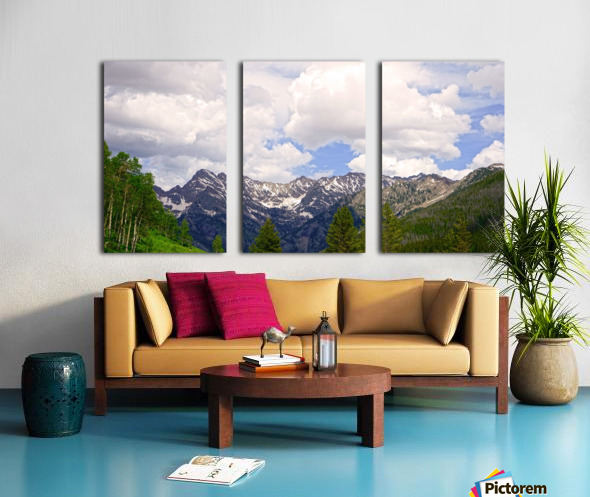 White River Country Colorado Split Canvas print