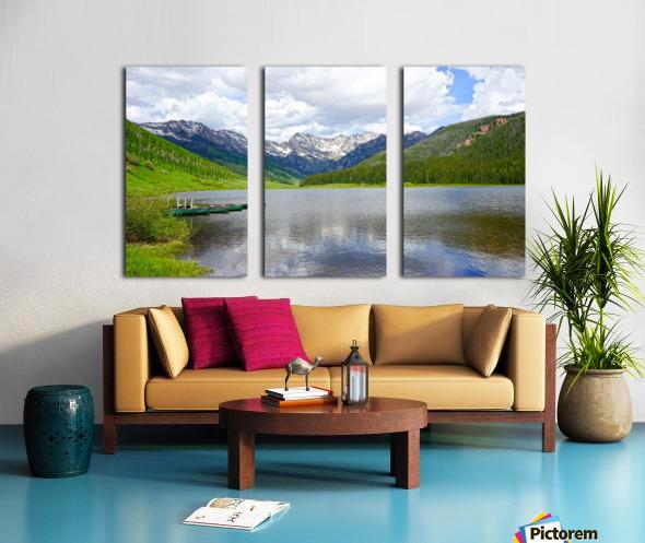 Rocky Mountain Reflections Split Canvas print