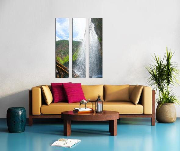 Inside the Waterfall Split Canvas print