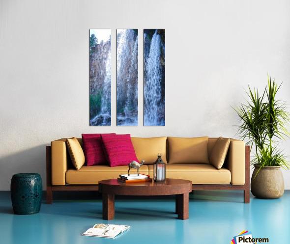 Standing in the Waterfalls Split Canvas print