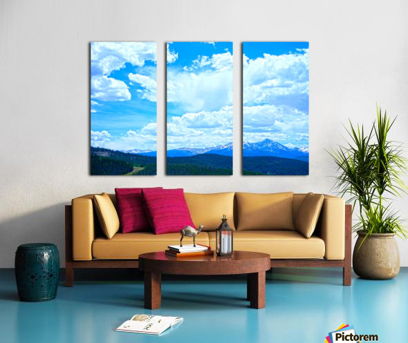 Painted Skies Over the Sawatch Split Canvas print