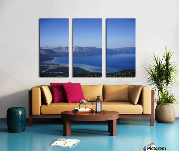 Lake Tahoe View - Tahoe California USA Split Canvas print