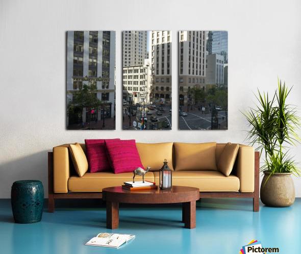 Snapshot in Time @ San Francisco Financial District Split Canvas print